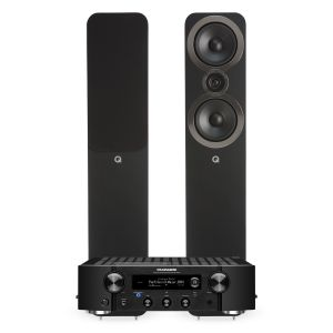 Marantz PM7000N Integrated Stereo Amplifier with Q Acoustics 3050i Floorstanding Speakers