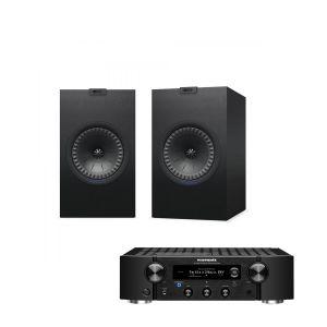 Marantz PM7000N Integrated Stereo Amplifier with KEF Q350 Bookshelf Speakers