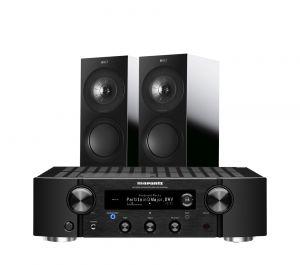 Marantz PM7000N Integrated Stereo Amplifier with KEF R3 Bookshelf Speakers