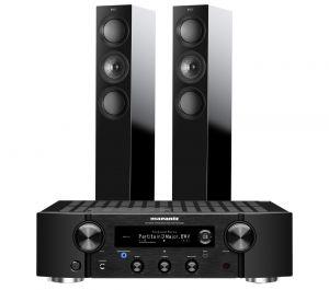 Marantz PM7000N Integrated Stereo Amplifier with KEF R5 Floorstanding Speakers