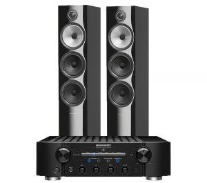 Marantz PM8006 HiFi Amplifier with Bowers & Wilkins 703 S2 Floorstanding Speakers