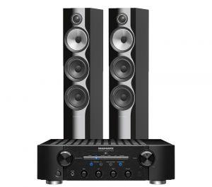 Marantz PM8006 HiFi Amplifier with Bowers & Wilkins 704 S2 Floorstanding Speakers