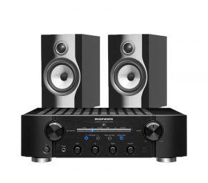 Marantz PM8006 HiFi Amplifier with Bowers & Wilkins 706 S2 Standmount Speakers