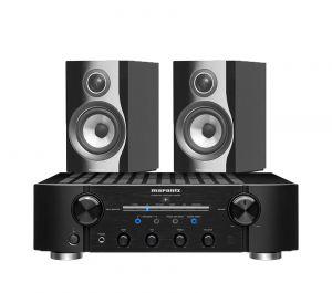 Marantz PM8006 HiFi Amplifier with Bowers & Wilkins 707 S2 Standmount Speakers