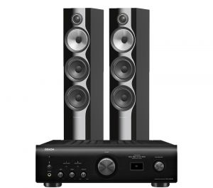 Denon PMA-1600NE Integrated Amplifier with Bowers & Wilkins 704 S2 Floorstanding Speakers