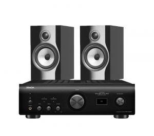 Denon PMA-1600NE Integrated Amplifier with Bowers & Wilkins 706 S2 Standmount Speakers