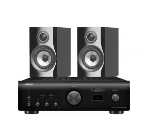 Denon PMA-1600NE Integrated Amplifier with Bowers & Wilkins 707 S2 Standmount Speakers