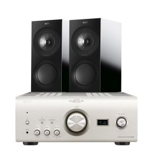 Denon PMA-2500NE with KEF R3 Bookshelf Speakers