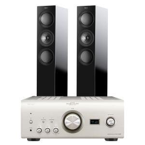 Denon PMA-2500NE with KEF R5 Floorstanding Speakers