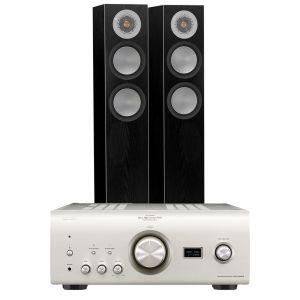 Denon PMA-2500NE with Monitor Audio Silver 200 Floorstanding Speakers