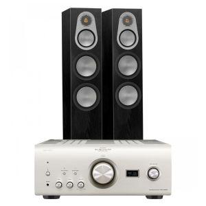 Denon PMA-2500NE with Monitor Audio Silver 300 Floorstanding Speakers