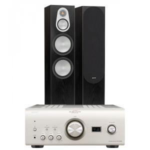 Denon PMA-2500NE with Monitor Audio Silver 500 Floorstanding Speakers