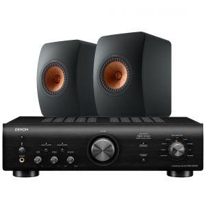 Denon PMA-600NE Integrated Amplifier with KEF LS50 Meta Standmount Loudspeakers