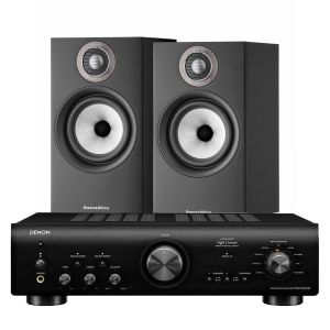 Denon PMA-800NE Integrated Amplifier with Bowers & Wilkins 607 S2 Standmount Loudspeakers