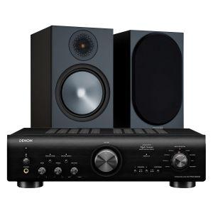 Denon PMA-800NE Integrated Amplifier with Monitor Audio Bronze 100 Speakers (6th Gen)