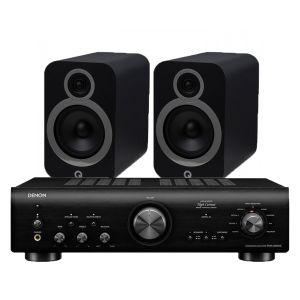 Denon PMA-800NE Integrated Amplifier with Q Acoustics 3030i Bookshelf Speakers
