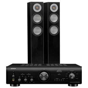 Denon PMA-800NE Integrated Amplifier with Monitor Audio Silver 200 Speakers