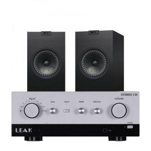 LEAK Stereo 130 Integrated Amplifier with KEF Q150 Bookshelf Speakers