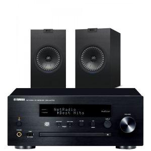 Yamaha CRX-N470D with KEF Q150 Bookshelf Speakers