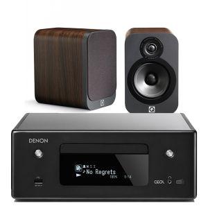 Denon CEOL RCD-N11DAB Hi-Fi Network CD Receiver with Q Acoustics 3020 Speakers