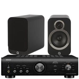 Denon PMA-600NE Integrated Amplifier with Q Acoustics 3020i Bookshelf Speakers