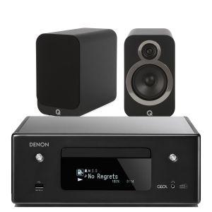 Denon CEOL N11DAB  Hi-Fi-Network CD Receiver with Q Acoustics 3020i Bookshelf Speakers