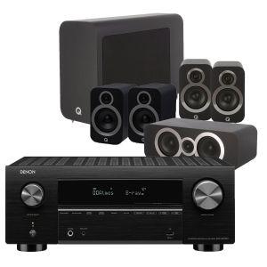 Denon AVC-X3700H Amplifier with Q Acoustics 3030i AV Speaker Pack