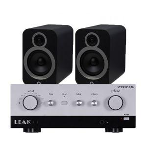 LEAK Stereo 130 Integrated Amplifier with Q Acoustics 3030i Bookshelf Speakers
