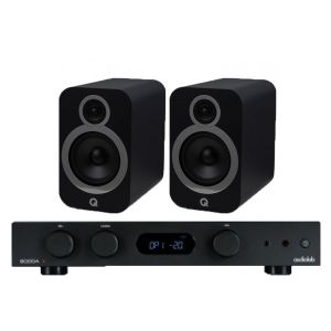 Audiolab 6000A Amplifier with Q Acoustics 3030i Bookshelf Speakers