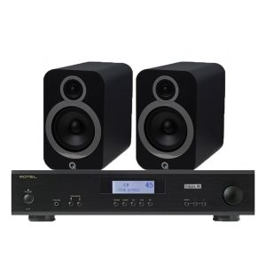 Rotel A11 Tribute Integrated Amplifier with Q Acoustics 3030i Bookshelf Speakers