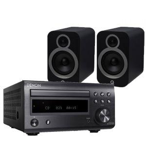 Denon D-M41DAB Hi-Fi System with Q Acoustics 3030i Bookshelf Speakers