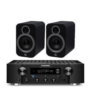 Marantz PM7000N Integrated Stereo Amplifier with Q Acoustics 3030i Bookshelf Speakers