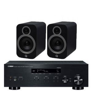 Yamaha R-N303D Hi-Fi Receiver with Q Acoustics 3030i Bookshelf Speakers