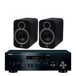 Yamaha R-N402D with Q Acoustics 3030i Bookshelf Speakers