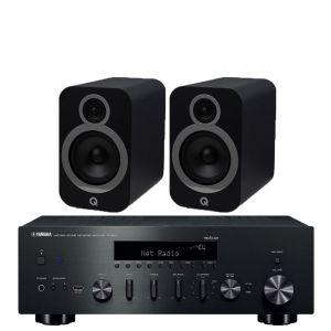 Yamaha R-N602 with Q Acoustics 3030i Bookshelf Speakers