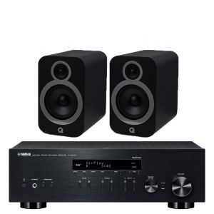 Yamaha R-N803D Amplifier with Q Acoustics 3030i Bookshelf Speakers