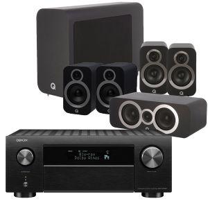Denon AVC-X4700H AV Amplifier with Q Acoustics 3030i AV Speaker Pack