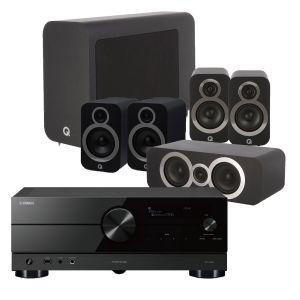 Yamaha RX-A2A AV Receiver with Q Acoustics 3030i AV Speaker Pack