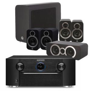 Marantz SR7015 9.2ch 8K AV Amplifier with Q Acoustics 3030i AV Speaker Pack