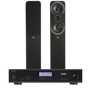Rotel A11 Tribute Integrated Amplifier with Q Acoustics 3050i Floorstanding Speakers