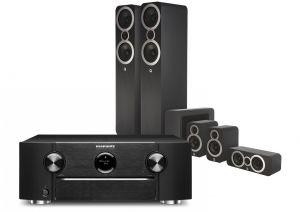 Marantz SR6015 9.2ch 8K AV Amplifier with Q Acoustics 3050i Cinema Pack