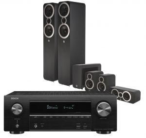 Denon AVR-X1600H DAB AV Receiver with Q Acoustics 3050i Cinema Pack