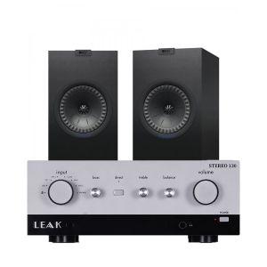 LEAK Stereo 130 Integrated Amplifier with KEF Q350 Bookshelf Speakers