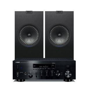 Yamaha R-N803D Amplifier with KEF Q350 Speakers