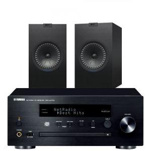 Yamaha CRX-N470D with KEF Q350 Bookshelf Speakers
