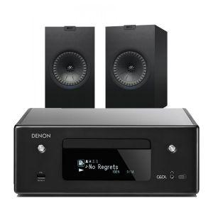 Denon CEOL N11DAB  Hi-Fi-Network CD Receiver with KEF Q350 Bookshelf Speakers