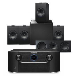 Marantz SR7015 9.2ch 8K AV Amplifier with KEF Q350 AV Speaker Pack
