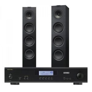 Rotel A11 Tribute Integrated Amplifier with KEF Q550 Floorstanding Speakers