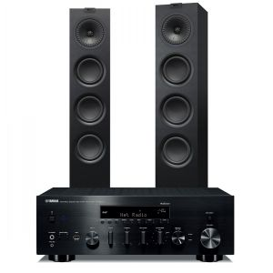 Yamaha R-N803D Amplifier with KEF Q550 Speakers