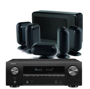 Denon AVR-X1600H DAB AV Receiver with Q Acoustics 7000i 5.1 Slim Speaker System